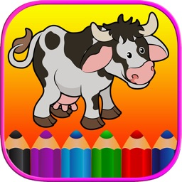 Animals Coloring Book HD - First Grade Word Games