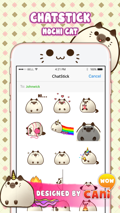 Mochi Cat Stickers for iMessage