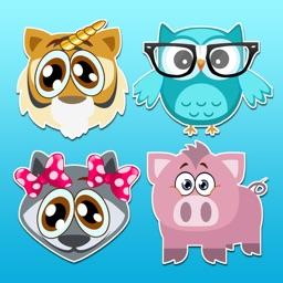 Cute Animal Emoji Keyboard - Personal Art Stickers
