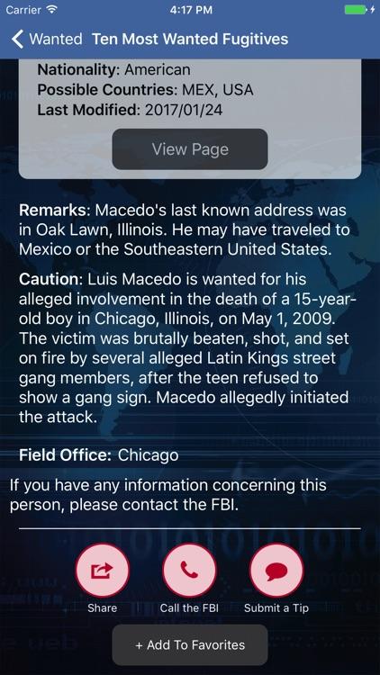 FBI Wanted screenshot-3