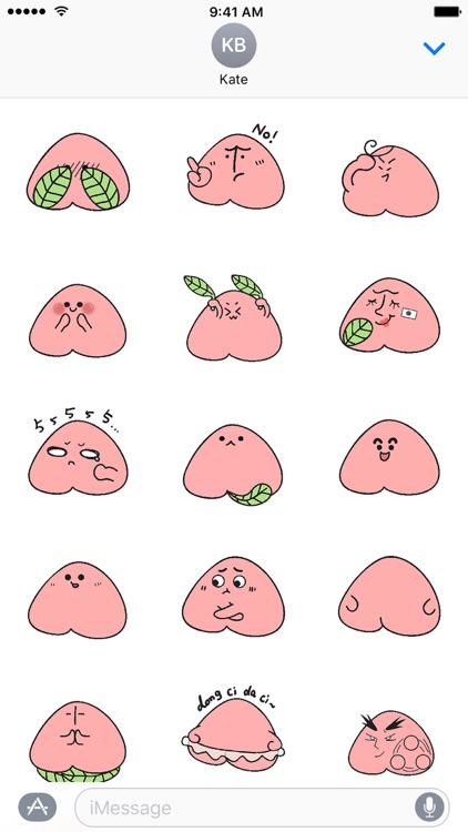 Lovely Peach - NHH Animated Stickers