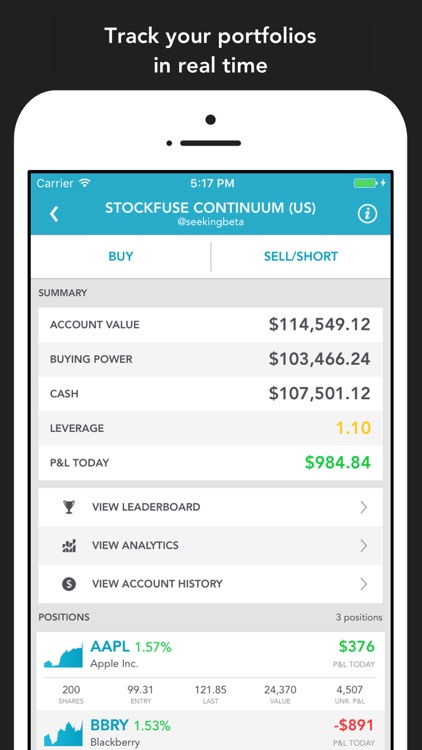 Stockfuse – Virtual Stock Market Game screenshot-0