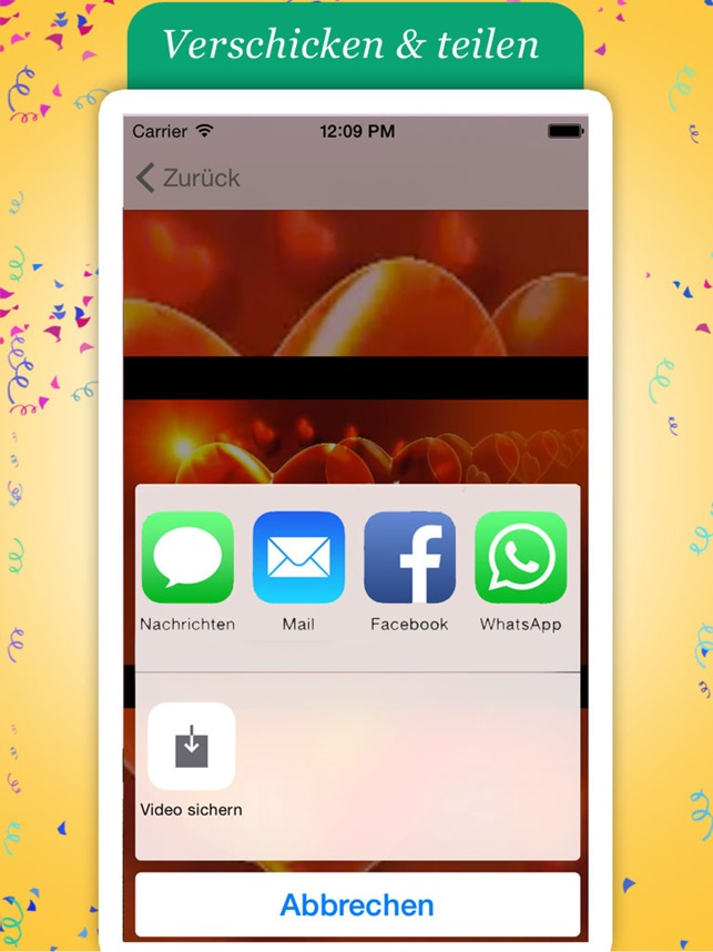 Geburtstagsgrüße app German Geburtstag