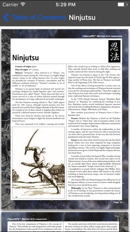 FSpace Roleplaying Martial Arts v1.1