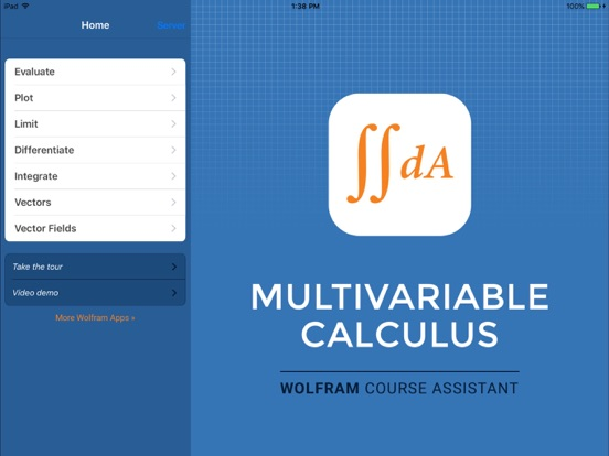 Wolfram Multivariable Calculus Course Assistant iPad