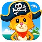 Piratas rompecabezas y colorear - para niños icon