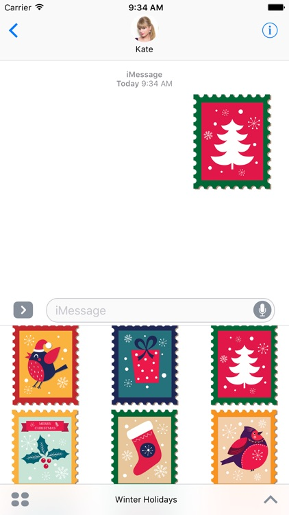 Winter Holidays Stickers screenshot-3