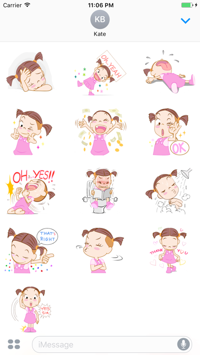 Natalia The Funny Single Girl English Stickers screenshot three