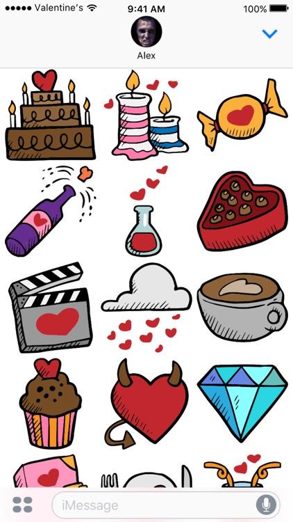 Valentine's Day stickers - Love Valentines 2017 screenshot-4