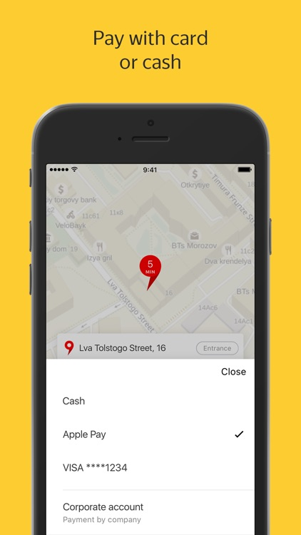 Yandex.Taxi — order taxis online screenshot-4