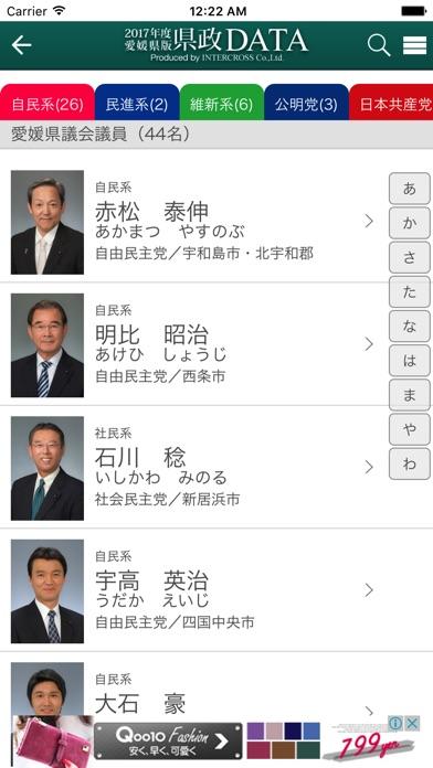 愛媛県政DATAのスクリーンショット2