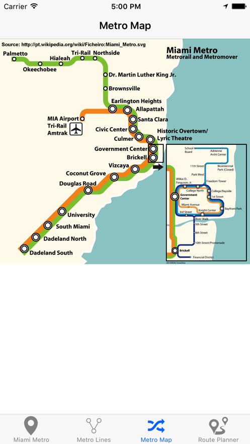 迈阿密地铁 App 截图