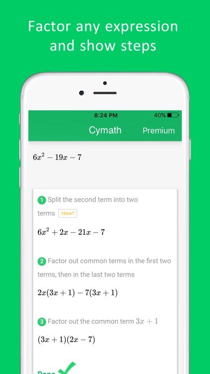 Cymath - Math Problem Solver and Homework Help screenshot-3