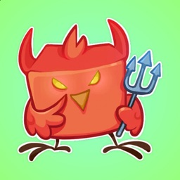 Angry Sparrow and Happy Bird Stickers