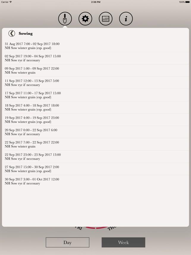 Thun Calendario.Maria Thun Biodynamic Calendar On The App Store