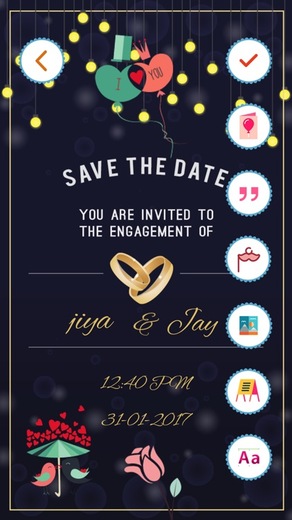 Engagement invitation cards maker by bhavik savaliya engagement invitation cards maker stopboris Image collections