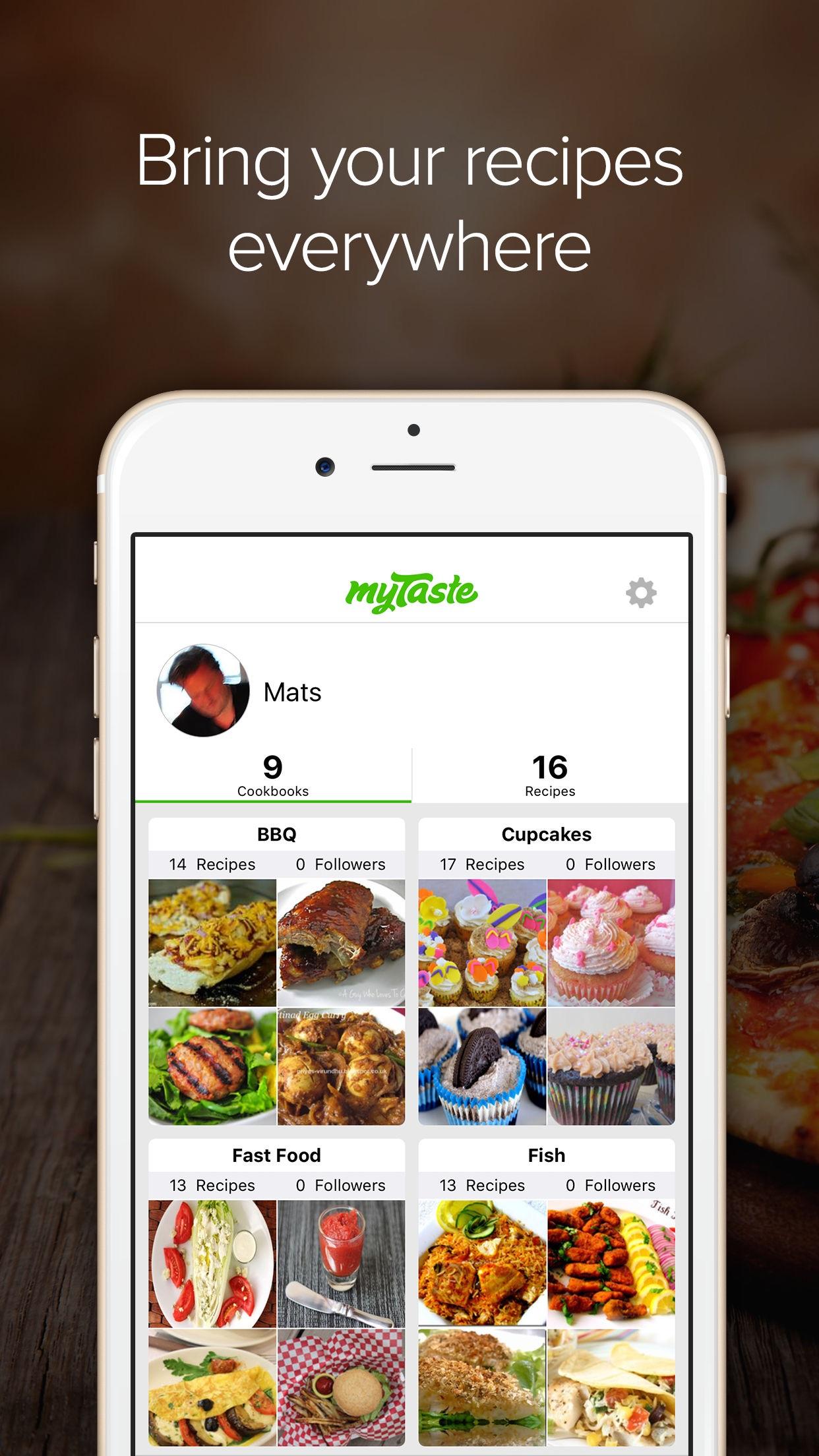 myTaste Recipes Screenshot