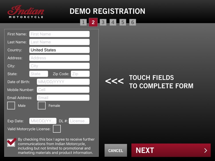 Indian Demo Reg for iPad