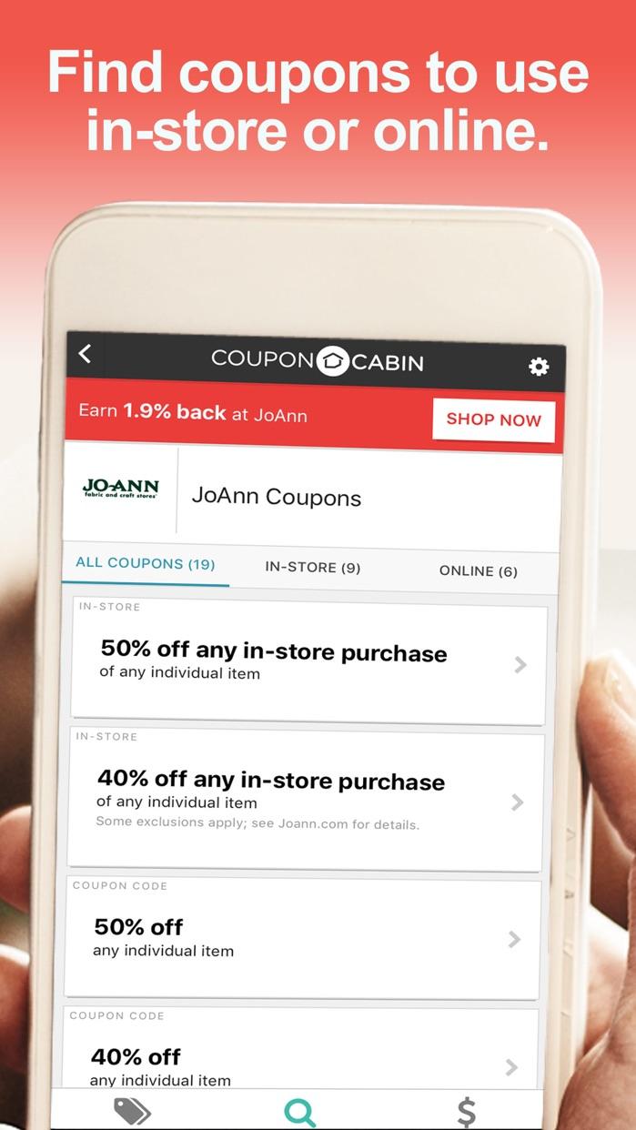 CouponCabin Screenshot