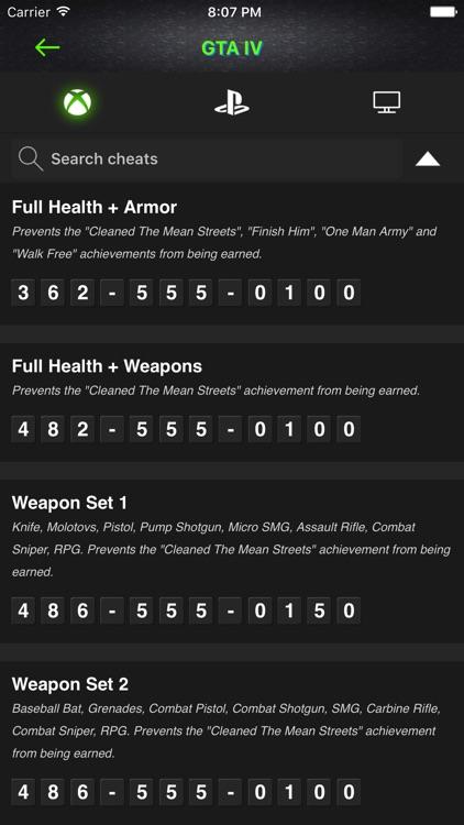 Cheats for GTA V - All Series Codes screenshot-4