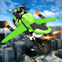 Flying RC Robote Simulator: Bike Flight Racing
