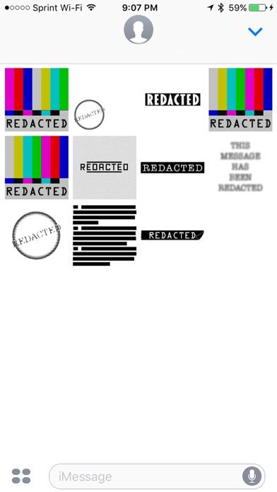 Redacted Sticker Pack screenshot four