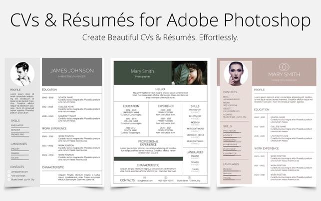 photoshop resume