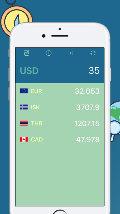 Kurrency, travel with real-time currency converter screenshot-0