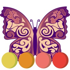Activities of Colorful butterfly coloring book