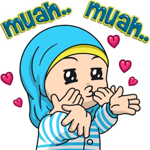 Cute Hijab stickers by EdSants
