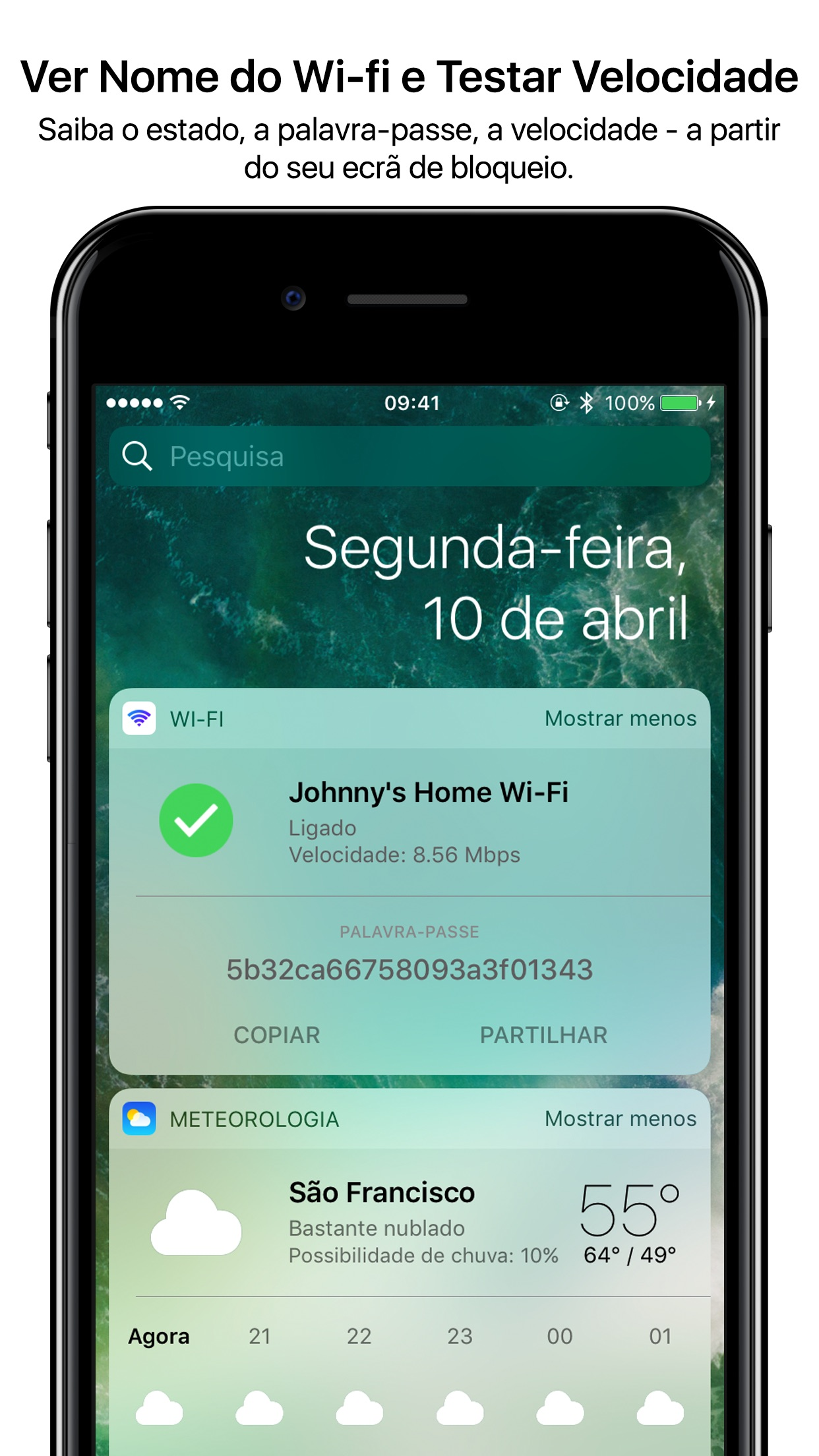 Screenshot do app Wifi Widget - See, Test, Share