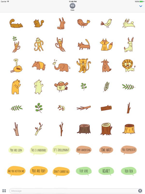 Zoo Friends - Fun Animal Puns with Speech Bubbles - Online