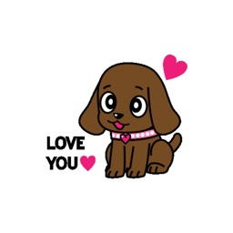 Miss Muddy Puppy Animated stickers by Beardownize