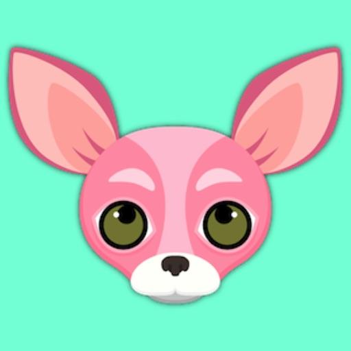 Pink Valentine's Chihuahua Emoji Stickers