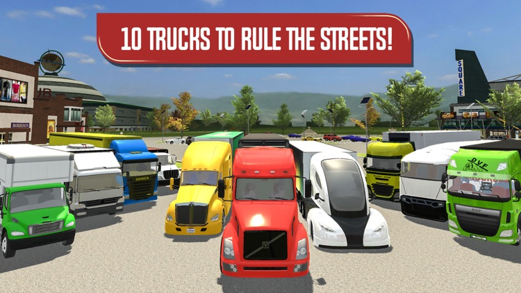 Delivery Truck Driver Highway Ride Simulator screenshot-4