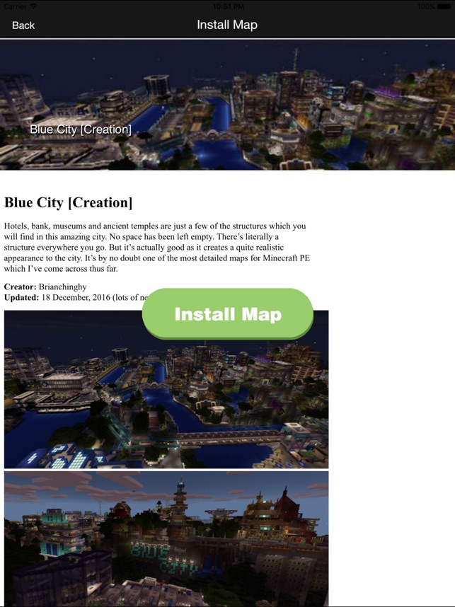 FREE Mansion City Maps For Minecraft PE MCPE On The App Store - Maps fur minecraft