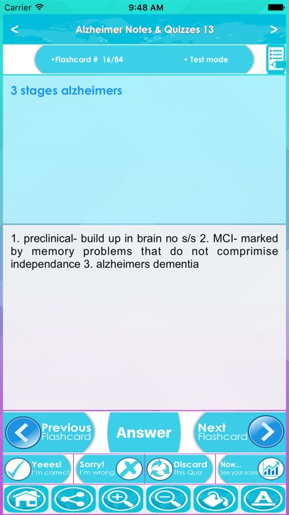 Alzheimer Guidelines & Test Bank- Terms & Quizzes screenshot-3