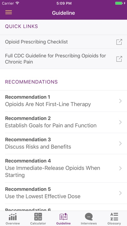 CDC Opioid Guideline screenshot-2