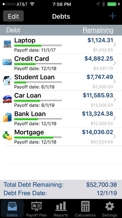 Debt Payoff Pro screenshot-0