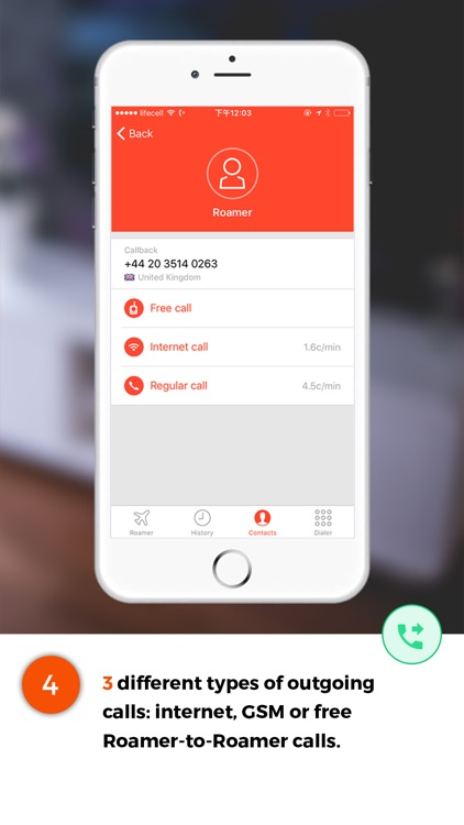 Roamer-Goodbye Roaming &Cheap international calls screenshot-3