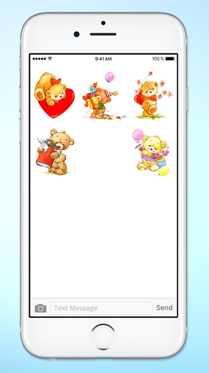 Teddy Bear Birthday and Love Sticker Pack screenshot-4