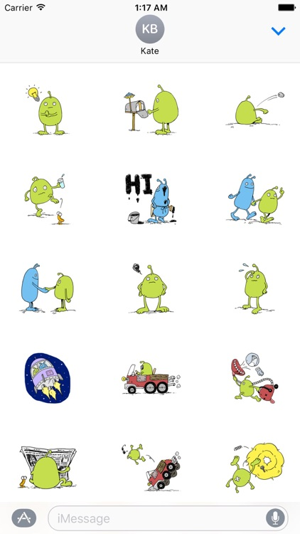 Funny Aliens Stickers
