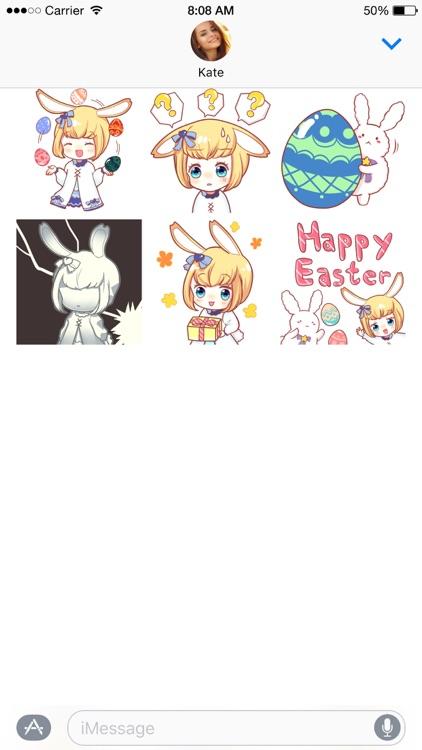 Little Miss Usagi stickers screenshot-4