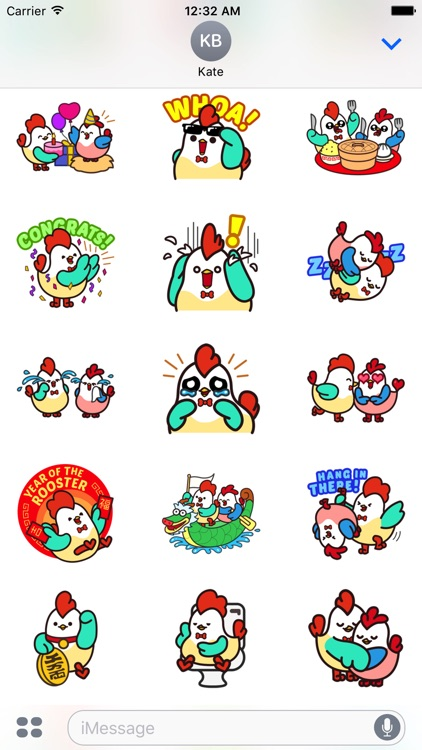 Cute Roosters Stickers screenshot-1