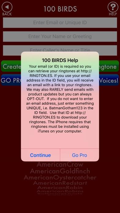 Screenshot for 100BIRDS + RINGTONES Bird Calls Tweets Sounds in United States App Store