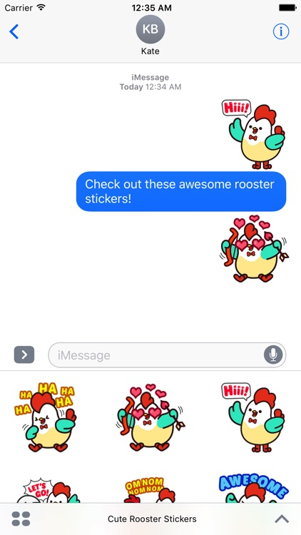 Cute Roosters Stickers screenshot-3