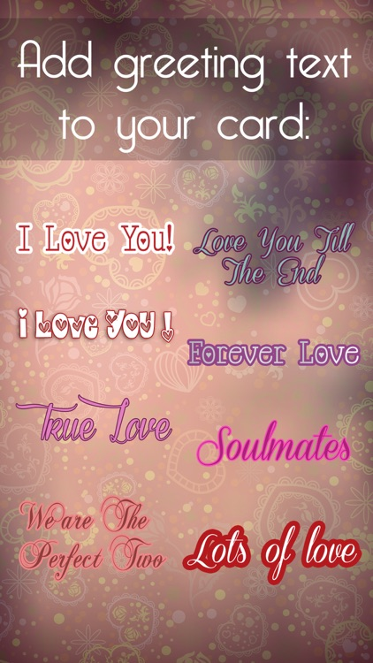 Valentine's Day - Personalised Love Cards Maker screenshot-3