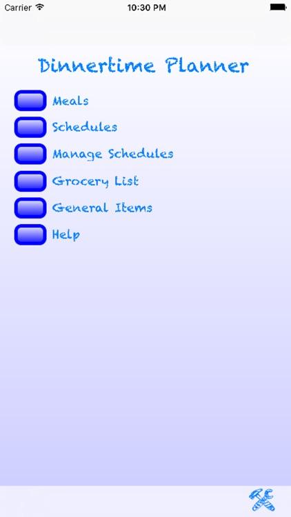 Dinnertime Planner screenshot-4
