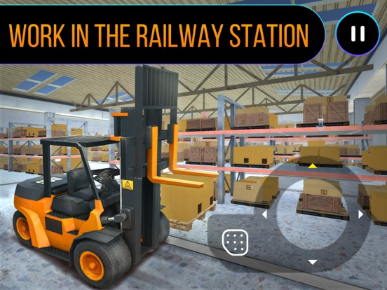 Railway Forklift Simulator 3D-ipad-0