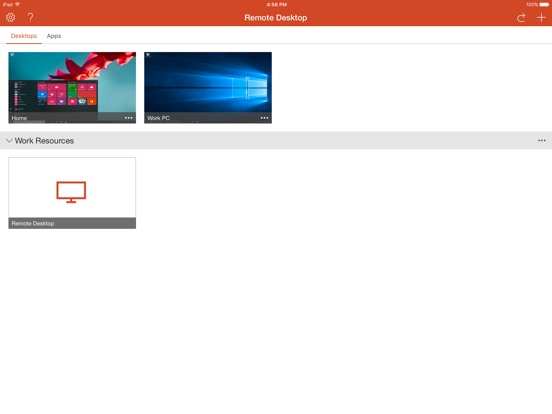Microsoft Remote Desktop iPad